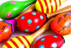 färgrik maracus för bakgrund Arkivbild