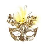 Färgrik Mardi Gras maskering som isoleras på vit royaltyfri bild
