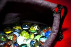 färgrik marmor för bollar Royaltyfria Foton
