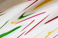 Färgrik marmoryttersida Mång- färgmarmormodell av blandningen av kurvor royaltyfria bilder