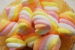 färgrik marshmallow fotografering för bildbyråer