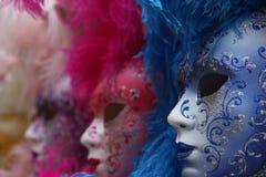färgrik maskering traditionella venice Royaltyfri Foto