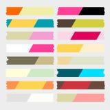 Färgrik maskeringstejpvektor royaltyfri illustrationer