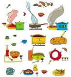 färgrik matset stock illustrationer