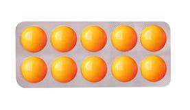 färgrik medicinal remsatabletwhite Royaltyfria Foton