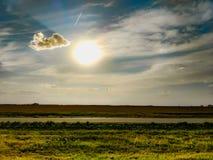 Färgrik Midwest solnedgång royaltyfri bild
