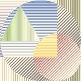 Färgrik minimalistic design med geometriska former som bildar abstrakt härlig bakgrund Perfekt garnering för royaltyfri illustrationer