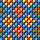 Färgrik modell av pärlor Royaltyfri Foto