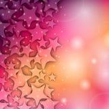 Färgrik modell för abstrakt stjärna Arkivfoto