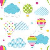 Färgrik modell för ballonger för varm luft Royaltyfri Foto