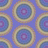 Färgrik modell för sömlös mandala Arkivbild