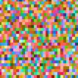 Färgrik modell med kaotiska PIXEL Arkivfoto