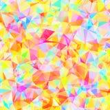 Färgrik modell med kaotiska trianglar Royaltyfri Bild