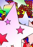färgrik modellstjärna vektor illustrationer