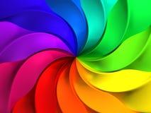 färgrik modellwindmill för abstrakt bakgrund Arkivbild