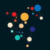 Färgrik molekylbakgrund Arkivbild