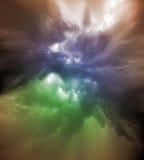 Färgrik molnvariation Arkivbild