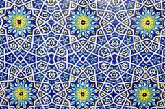 Färgrik moroccan mosaikvägg Royaltyfri Bild