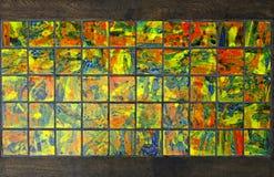 Färgrik mosaik Arkivfoton