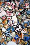 färgrik mosaik Arkivbilder