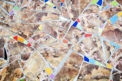 färgrik mosaik Arkivfoto