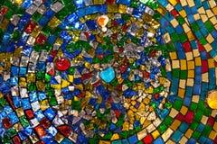 Färgrik mosaik, abstrakt texturbakgrund. Royaltyfria Foton