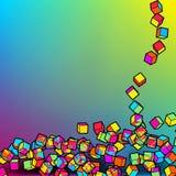 färgrik mosaik eps8 för abstrakt bakgrund 3d EPS8 Arkivbild