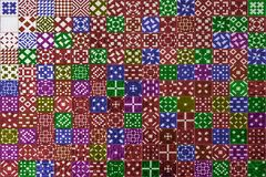 Färgrik mosaikazulejotextur i Lissabon Royaltyfri Bild