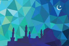 Färgrik mosaikdesign - moské Royaltyfria Bilder
