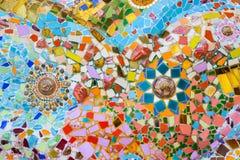 Färgrik mosaikkonst och abstrakt begreppväggbakgrund. Royaltyfria Foton