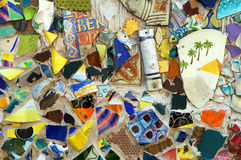 färgrik mosaikoriginalvägg Royaltyfri Foto