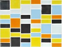 färgrik mosaiktegelplatta Arkivbilder