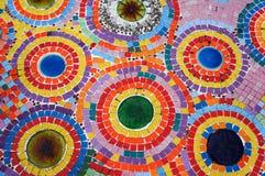Färgrik mosaikvägg Royaltyfria Bilder