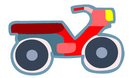 Färgrik motorcykelleksak Royaltyfria Foton