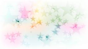 Färgrik mousserande stjärnavideoanimering