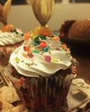 färgrik muffin Arkivbilder