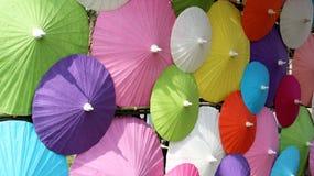 Färgrik mullbärsträd Peper Mubrella arkivbilder