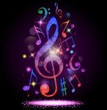 färgrik musik för bakgrund Arkivbild
