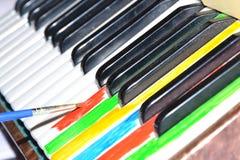 färgrik musik piano Fotografering för Bildbyråer
