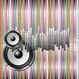 färgrik musikal för bakgrund royaltyfri illustrationer