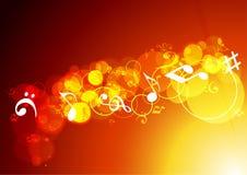 Färgrik musikbakgrund. Royaltyfri Bild