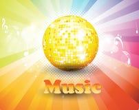 Färgrik musikbakgrund. Royaltyfria Bilder