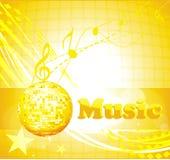 Färgrik musikbakgrund. Royaltyfri Foto