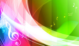 Färgrik musikbakgrund. Arkivbilder