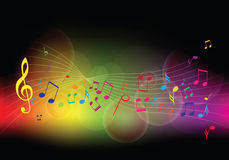 Färgrik musikbakgrund Arkivbilder