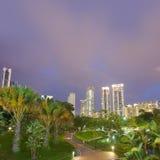 färgrik nattplats för stad fotografering för bildbyråer