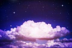 färgrik nattsky Royaltyfria Bilder