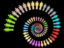 Färgrik nautilu för spiral för begrepp för affärsarbetslag Arkivfoton