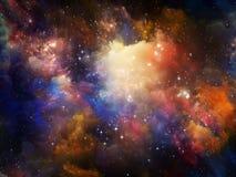 färgrik nebula Arkivfoto