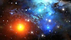 färgrik nebula Fotografering för Bildbyråer